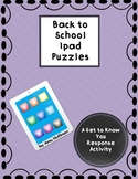 Back to School Ipad Puzzles {A Get to Know You Activity}