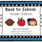 Back to School: Kinder Edition