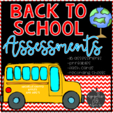 Back to School Kindergarten Assessments