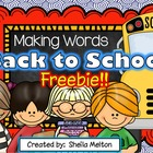 Back to School Making Words FREEBIE!
