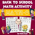 Back to School Math Bingo Interactive Activity For Grades