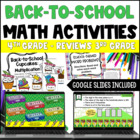 Back to School Math Centers for 4th Grade {Common Core Ali