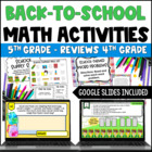 Back to School Math Centers for 5th Grade {Common Core Ali