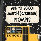Back to School Math Journal