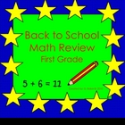 Back to School Math Review for First Grade Smartboard