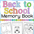 Back to School Memory Book - 38 pages