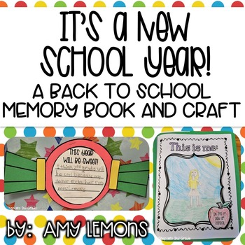 It's a New School Year! {Back to School Memory Book and Craft}