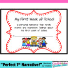 Back to School Narrative Writing Activity