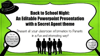 Back to School Night: An Editable Ppt Presentation with a