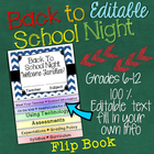 Back to School Night: Editable Interactive Layered Flip Book