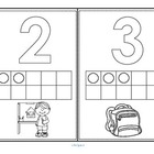 Back to School Numbers and 10-frames 0-10 Bingo Stampers D