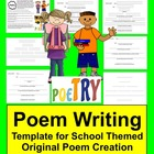 Back to School Original Student Poem Graphic Organizer