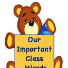 "Back-to-School ""Our Important Classroom Words"" Booklet"