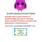 Owl Grade Book/Student Checklist Pages