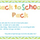 Back to School Pack Set