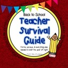 Back to School Packet - Teacher Survivor Guide - First Day
