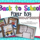 Back to School Paper Bag Scrapbook Kit {Grades 1 and Beyond}