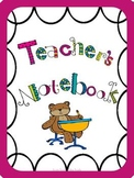 Back to School Pink Bear Binders and Folders for Teachers!