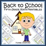 Back to School Quick Common Core (5th grade)