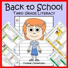 Back to School Quick Common Core Literacy (3rd grade)