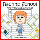 Back to School Quick Common Core Literacy (4th grade)