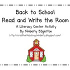 Back-to-School Read and Write the Room