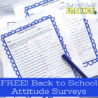 Back to School Reading and Writing Attitude Surveys with D