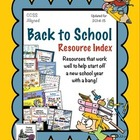 Back to School Resource Index