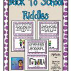 Back to School Riddles