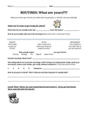 Back to School- Routines Assignment (Great way to get to k