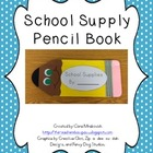 Back to School: School Supply Pencil Book Craftivity