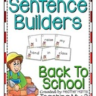 Back to School Sentence Builders