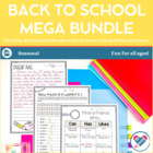 Back to School Set: Getting to Know You, Parent Forms and