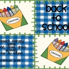 Back to School!  Speech Therapy Game and Activity Packet f