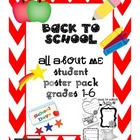 Back to School  Student Graphic Organizer Gr. 1-6