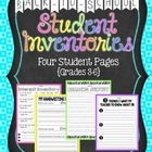 Back to School Student Inventories - Grade 3-6