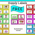 Back to School ~ Supply Labels ~ FREE!