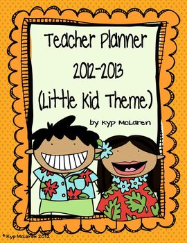 Back to School Teacher Planner (Little Kid Theme)