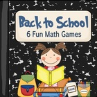 Back to School Themed Math Games (Common Core Aligned)