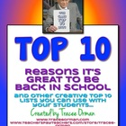 Back to School {or ANYTIME} Top 10 Lists Activity Icebreak