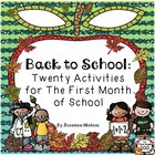 Back to School: Twenty Activities for the First Month of School