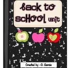 Back to School Unit {Printables for First and Second Grade}