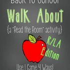 "Back to School Walk About {A R/LA ""Read the Room"" Activity}"