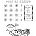 Back to School Word Search Puzzle / 2nd Grade