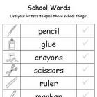 Back to School Word Work 1