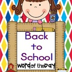 Back to School Word of the Day