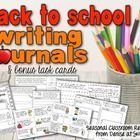 Back to School Writing Center Task Cards
