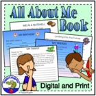 Back to School Writing Unit - All About Me Book