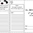 Back to School trifold: All About Me -  4th Grade