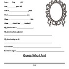 Back to School/Ice Breaker Writing Activity Grades 3, 4, & 5